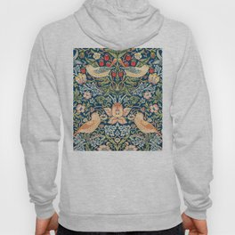 The strawberry thieves pattern by William Morris. British textile art. Hoody