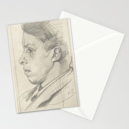 Mansportret, in profile to the left, Jan Veth, 1882 Stationery Cards