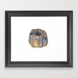 blueberry coffee cake Framed Art Print