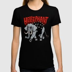 Hellephant SMALL Womens Fitted Tee Black
