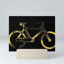 Yellow bicycle Mini Art Print