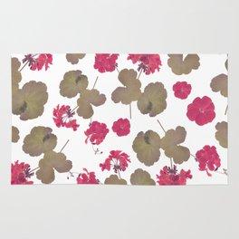 seamless   pattern of geranium flowers . Endless texture Rug