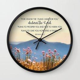 Jeremiah 29:11 Wall Clock