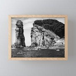 Cliff Diving event Framed Mini Art Print
