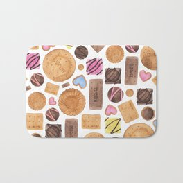 Selection of Sweets, Candy, Cakes and Biscuits Bath Mat