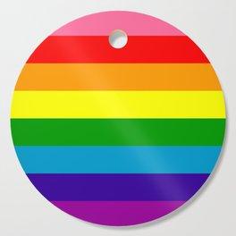 Rainbow Flag (Original Gay Pride Flag Colors) Cutting Board