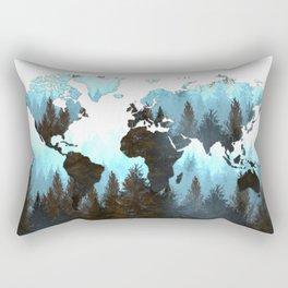 world map forest Rectangular Pillow