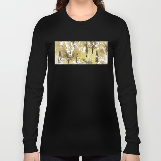 Winter Trees Pattern Long Sleeve T-shirt