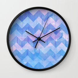 Watercolour Chevron {Spring 2015 Limited Edition} No. 1 Wall Clock