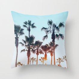 Venice Beach Palms Throw Pillow