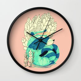 cute raccoon Wall Clock