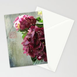 carte hydrangea Stationery Cards