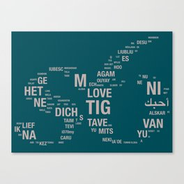 All languages of the world Canvas Print