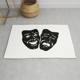 Theater Masks of Comedy and Tragedy Rug