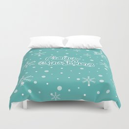 New Year, Christmas, winter holidays illustration Duvet Cover