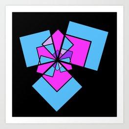 moving squares -10b- Art Print