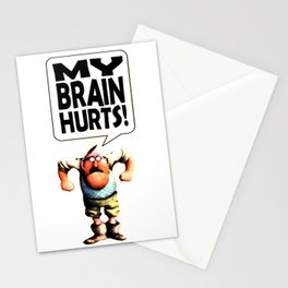 Mr Gumby - My brain hurts Stationery Cards