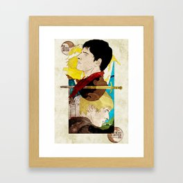 The King and His Sorceror Framed Art Print
