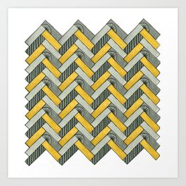 Deco Parquet Art Print