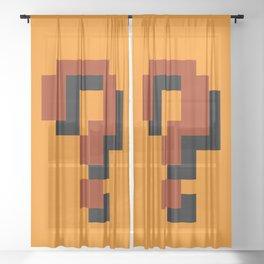 Question Block Sheer Curtain
