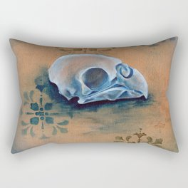 Oil Paint Study - Parakeet Pattern Rectangular Pillow