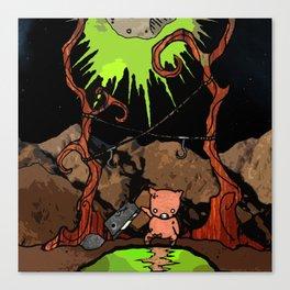 Dig Big Pig Canvas Print