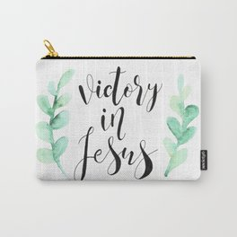 Victory In Jesus Carry-All Pouch