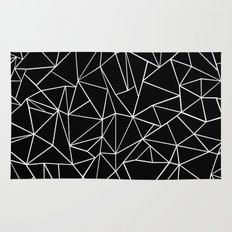 Abstraction Outline Black and White Rug