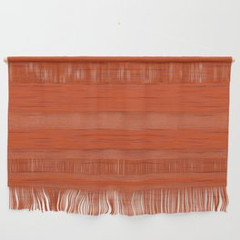 Meteor Stripes - Rust Orange Wall Hanging