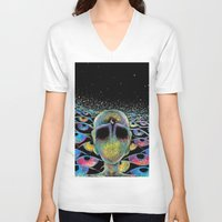 third eye V-neck T-shirts featuring third eye by Blu*