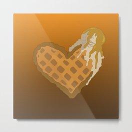 Waffle Love Metal Print