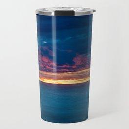 Lake Michigan Sunset Travel Mug