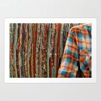 Shirt and sofa Art Print