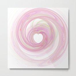 Valentine's Fractal IV - Light Metal Print