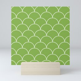 Scales - greenery Mini Art Print