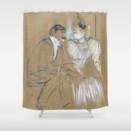 """Henri de Toulouse-Lautrec """"Lucien Guitry et Jeanne Grânier"""" Shower Curtain"""