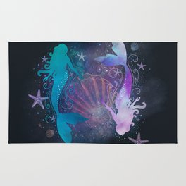 blue & purple mermaid #2 Rug