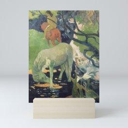 The White Horse by Paul Gauguin Mini Art Print