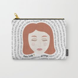 Dana Scully - XF Quotes Carry-All Pouch