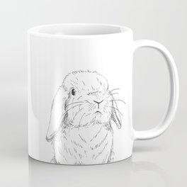 Curious Holland Lop Bunny Coffee Mug