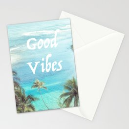 Good Vibes Beachy Palms Stationery Cards