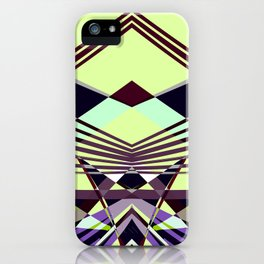 SWEEPING LINE PATTERN I-E4A iPhone Case