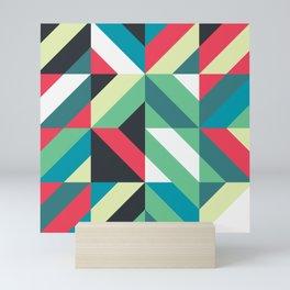 Colorful Shapes Texture, Retro Style, Mini Art Print