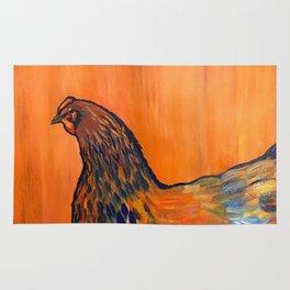 Orange Chicken Rug