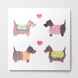 Scottish Terrier Pattern Metal Print