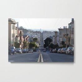 Down The Street Metal Print