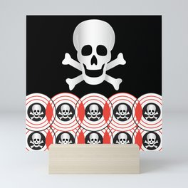 Skulls and Crossbones Mini Art Print