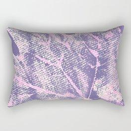 Eco botanical print in violet Rectangular Pillow