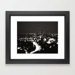 Los Angeles cityscape. L.A. Noir Framed Art Print