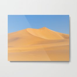 Red dunes and blue sky in Swakopmund, Namibia | Travel photography Africa Metal Print